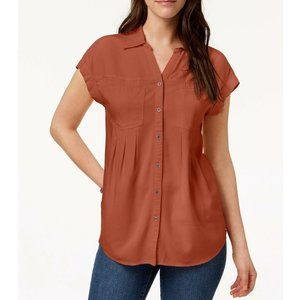 Style & Co XS Cider Spice Orange Top NWT CQ18